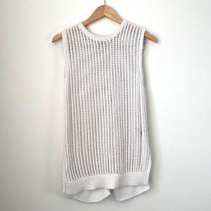 RW&Co White Sweater Vest Large